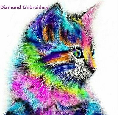 Animal Cat 5D DIY Diamond Embroidery Painting Cross Stitch Home Wall Decor