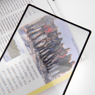 3X PVC Magnifier Sheet 180X120mm Book Page Magnifying Reading Glass Lens ZZ