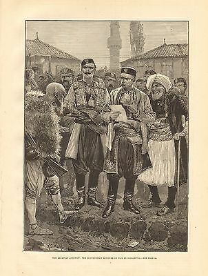 1880 Antique Print-Albania-Montenegrin Minister Of War At Podgoritza