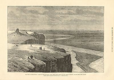 1880 Antique Print-Afghan War- Valley Of Helmund From South Of Abbaza