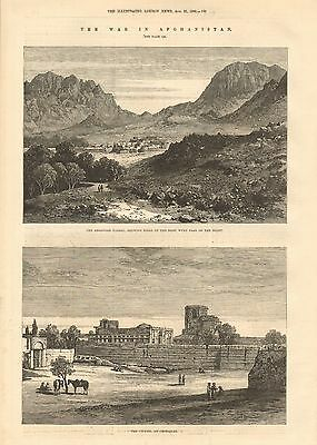1880 Antique Print-Afghan War- Argandab Valley, Citadel Of Candahar