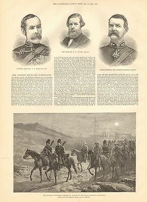 1884 Antique Print-The Afghan Boundary Commission, 2 Prints
