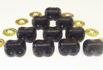 Plastic Animal Safety NOSES Toy Components & Teddy Bear Making 12mm BLACK