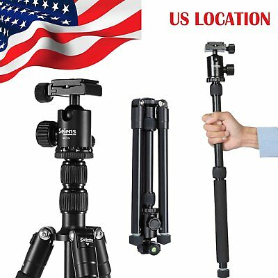 Portable Pro Tripod Monopod & Ball Head Compact Travel For SLR DSLR Camera
