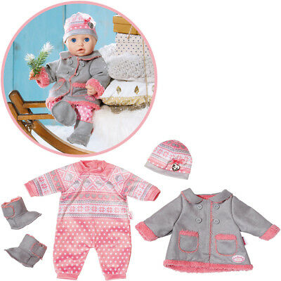 Zapf Creation Baby Annabell Deluxe Kalte Tage Set (Rosa-Grau)