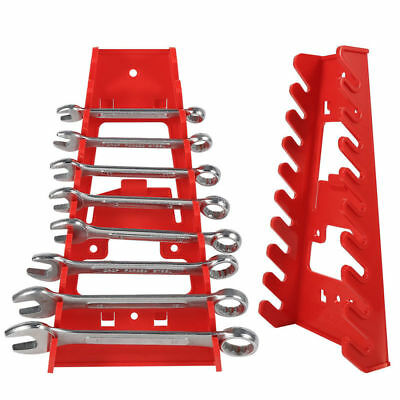2PC Plastic Wrenches Organizer Spanner Holder Rack Max Load 9 Gripper Tool PYEG