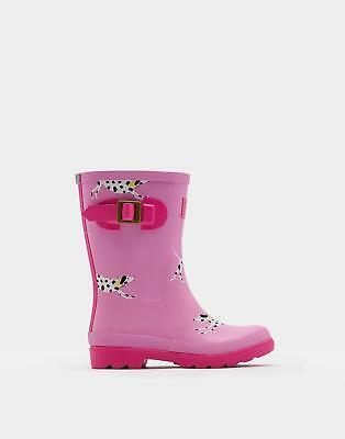 Joules 124526 Girls Printed Tall Height Welly in Rubber in Bon Bon Dalmatian