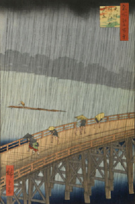 Sudden Shower Japanese Print