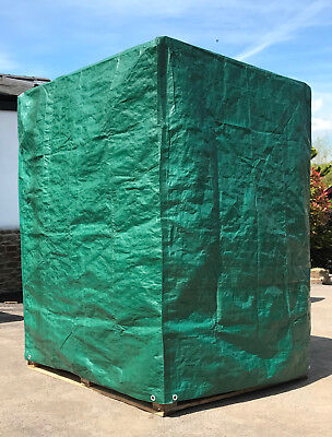 Pallet Cover Tarpaulin Tarp 140gsm Waterproof Fitted Reusable Cover Pallets