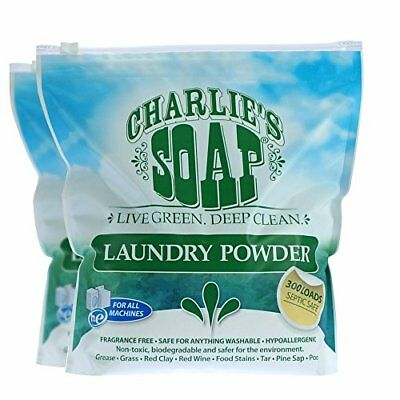 Charlie's Soap - Fragrance Free Laundry Powder - 300 Loads (2 Pack)