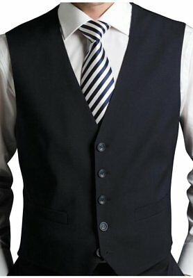 Lawrance Cliff Premium Quality Mens Black Formal WaistCoat For Special Occasions