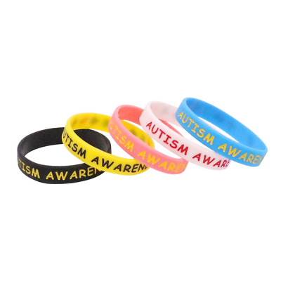 Autism Awareness Silicone Rubber Wristband bracelet jewelry 5 color