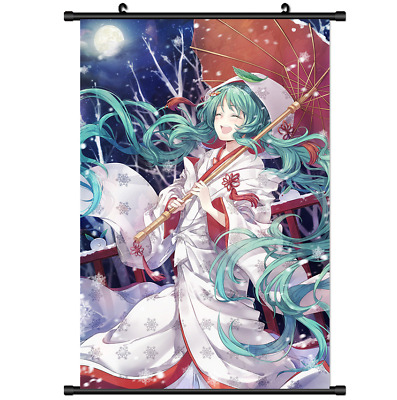 Anime VOCALOID Hatsune Miku cute wall scroll poster cosplay 2986