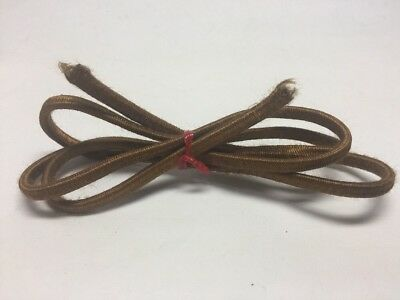 "Vintage Brown Cloth Electrical Cord 41"" Two Wire - Ready For A Bakelite Plug!"