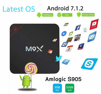 Android 7.1 2GB TV Box 4K Octa Core HD Wifi 3D Amlogic S912 H96 Pro Plus 2017