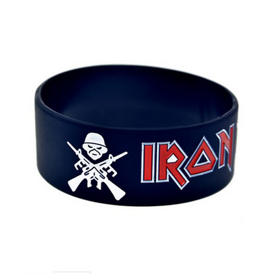 Iron Maiden rock band music Silicone Rubber Wristband bracelet jewelry new
