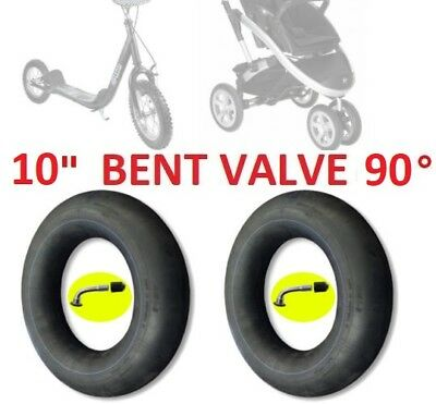 "2 INNER TUBE 10"" 10 x 1.75 x2 BENT VALVE KID STROLLER PUSHCHAIR BUGGY PRAM TRIKE"