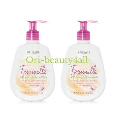 2×Oriflame Feminelle Soothing Intimate Wash, 2×300ml New