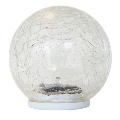 Frostfire Globesol - Solar Cracked Glass Light …