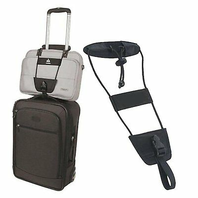 Add A Bag Strap Travel Luggage Suitcase Adjustable Belt Carry On Bungee Easy HOT