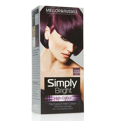Mellor & Russell Simply Bright Hair Colour Purple Passion X 3