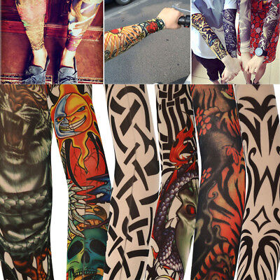 Hot Selling High Quality Unisex Temporary Fake Slip On Tattoo Arm Sleeves Kit
