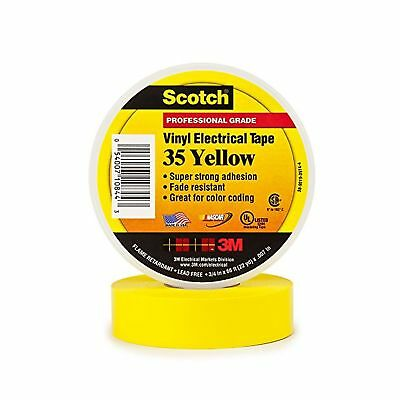Scotch Vinyl Color Coding Electrical Tape 35 3/4 in x 66 ft Yellow
