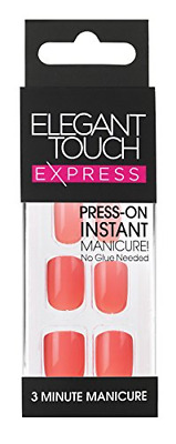 Elegant Touch Express Polished Ongles Pré-encollée Coral