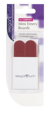 Elegant Touch Mini Emery Boards In Pouch Lime à Ongles