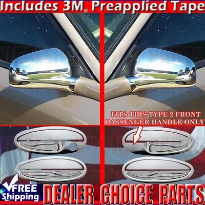 Fit 06-2010 2011 2012 2013 Chevy Chevrolet Impala Full Mirror Chrome Cover