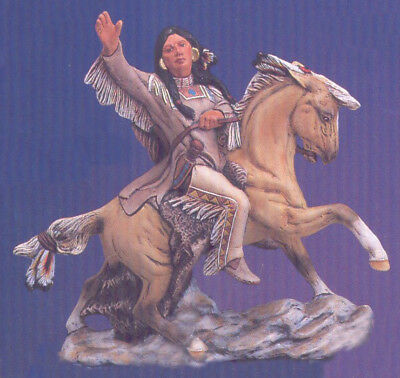 Ceramic Bisque Native American Indian Scout On Horseback U-Paint Horse