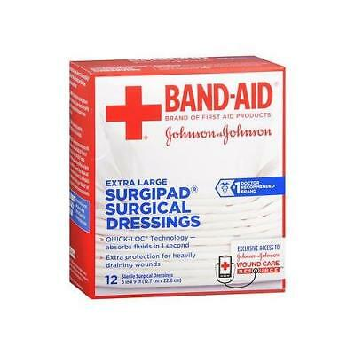 BAND AID Surgipad Surgical Dressing 5x9 Inches Extra Large 12 Count Each