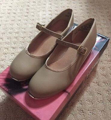 NIB Liberts #1114 Mary Jane Buckle Tap Dance Shoes, Child/Adult, TAN