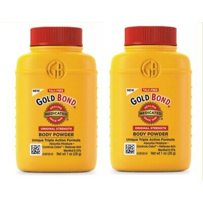 2 Pack Gold Bond Medicated Body Powder Original Strength 1oz Each