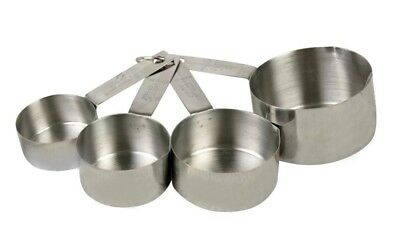 Commercial Stainless Steel Measuring Cup Set: 1/4, 1/3,-1/2, 1 Cup.