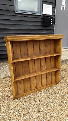 LOVELY 19th CENTURY PINE DRESSSER RACK WALL RACK SHELF SHELVES ANTIQUE VICTORIAN