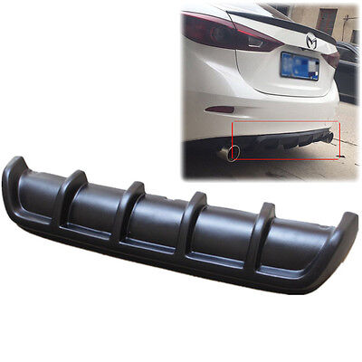 25 X5 Euro Car Motor Matte Black Rear Shark Fin Curved Bumper Lip