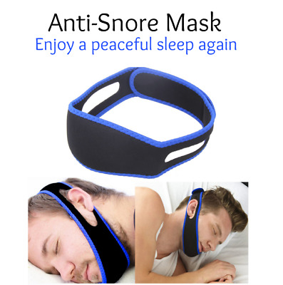 Anti Snore Mask - Teeth Grinding, Sleep Apnea Sleep easy again. Chin Strap Mask