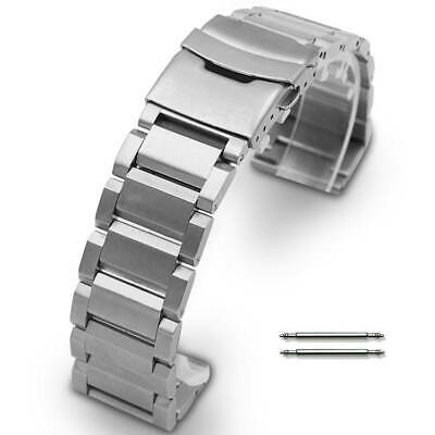 Stainless Steel Metal Bracelet Replacement Watch Band Strap Double Locking Clap