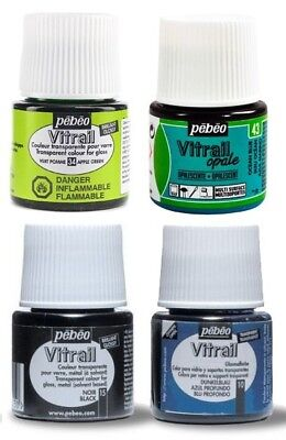 PEBEO VITRAIL - GLASS PAINTS - 45ml BOTTLES