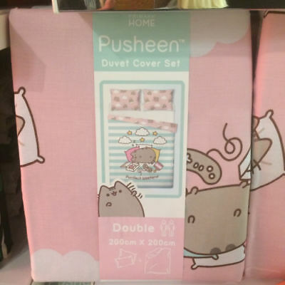 Disney Pusheen The Cat Single Duvet Double Cover Bed Set Blanket Primark Bedding