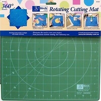 Rotating Cutting Mat Self Healing Craft Patchwork Quilting Ruler Birch 30 x 30cm