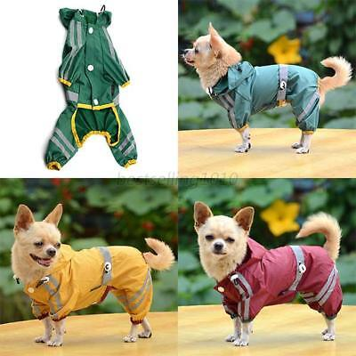 US Pet Rain Coat for Small Puppy Dogs Jacket Cute Casual Waterproof Dog Clothes