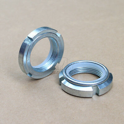 Select Size M10 - M90 Right Hand Fine Thread Nylon Locknut Slotted Castle Nut