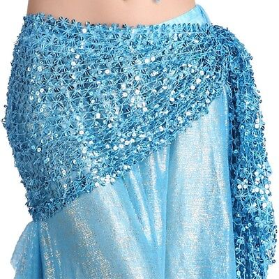 Belly Dance Gold/Silver Belt Hot dance Hip Scarf Skirt Wrap Dancing Costume veil