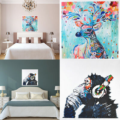 Oil Painting Abstract Wall Decor Imitation Hand-painted Art Elephant on Canvas