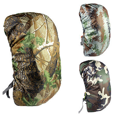 Outdoor Travel Hiking Rucksack Backpack Dust Waterproof Camo Rain Poncho Cover.