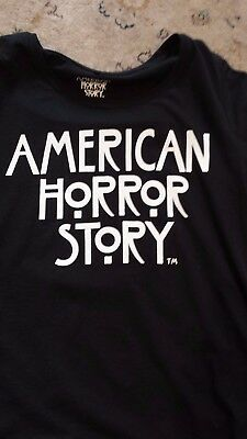 American Horror Story black with white writing t-shirt tee top Size XL unisex