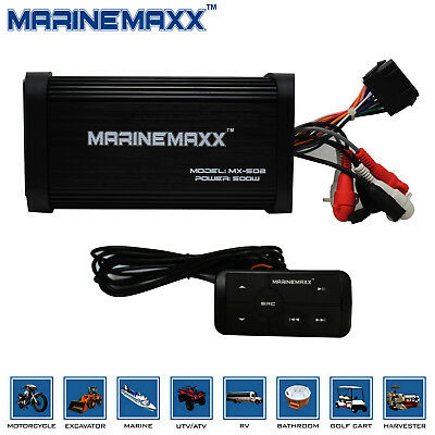 500 W 4-Channel Motorcycle Audio Amplifier Built-in Bluetooth Stereo+Remote Kit