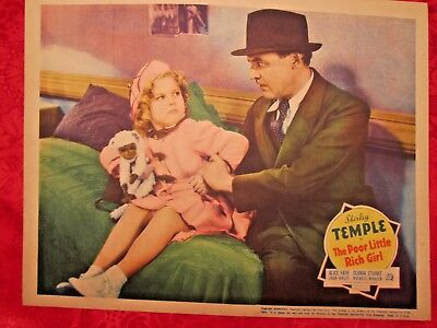 The Poor Little Rich Girl (1936)Great Classic Shirley Temple Original Lobby Card